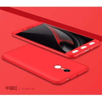 Xiaomi Redmi Note 4 (SNAPDRAGON)/ Note 4x (SNAPDRAGON) GKK 360 Degree Full Covered Matte Case Cover Casing (Red)