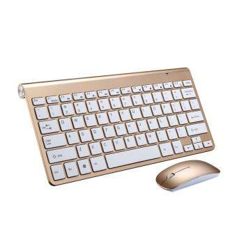 YBC Ultra Slim Wireless Keyboard With Mouse Kit Set For Desktop Laptop PC