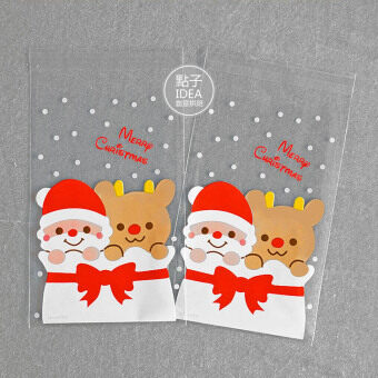 100, dress cookie biscuit candy cattle rolling sugar bag Christmasold biscuit bag Christmas's day penguin baking Packaging