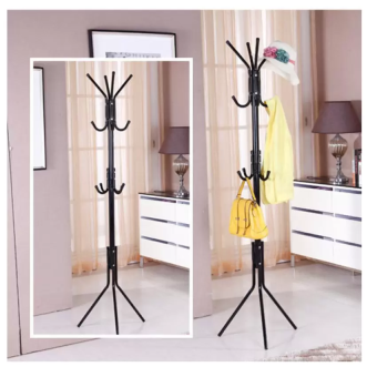 [12 Hook] Convenient Hanging Steel Pole Rack for Clothes ...