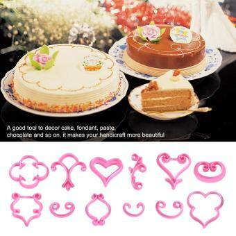 1Set 12Pcs Flower Rose Sugarcraft Cake Cookies Pastry FondantChocolate Cutter Mold Decoration