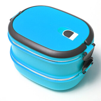 2 Layers Bento Thermal Insulated Lunch Box Case Stainless Steel Camping Food Container - Intl
