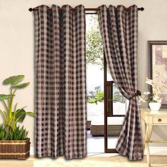 2 PIECES : Essina Premium Eyelet Curtain Blackout 140cm x 260cm -MORROCAN (fit window/sliding door from 150-250cm width)