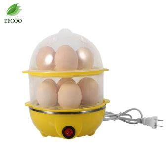 220V Multi-functional Electronic Eggs Boiling Cooker Double-Layer Kitchen Steamer(Yellow)