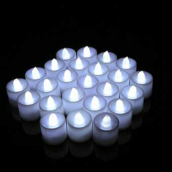 24PCS Flameless Battery Operated LED Light Candle White