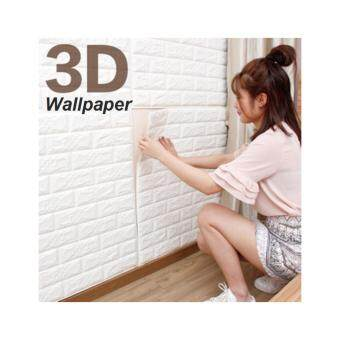3D Wall Paper DIY Wall Decor Embossed Brick Stone