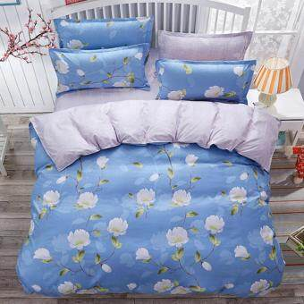 4 in 1 Elmer's Queen Fitted Bedding Set bed protector home Quilt Cover Polyester Sheet Pillowcase Bedsheet - Style D