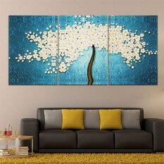 40 x 60cm 3 pannels no frame beautiful money tree painting wall art picture home decoration canvas modern - Home Decor Malaysia