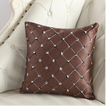 43*43CM Home Sofa Bed Decor Multicolored Plaids Throw Pillow CaseSquare Cushion Cover Coffee 43*43CM