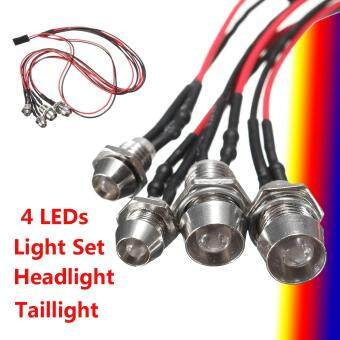4Leds LED Light Set Headlight Taillight for RC Car Truck Tank HSP T D3