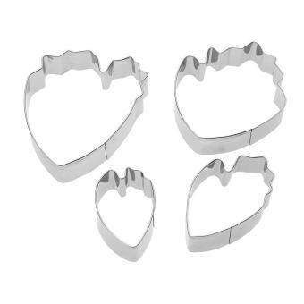 4pcs/set Peony Flower Petal Fondant Cookie Cutter Cake Mould