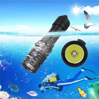 5000LM XM-L2 LED Scuba Diving Flashlight Torch 18650 LightUnderwater 100m Black
