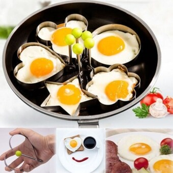 5pc Mould Mold Cooking Kitchen Tools Stainless Fried Egg ShaperRing Pancake