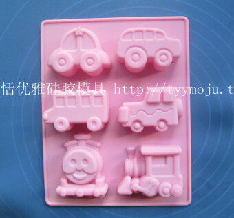 6 even car train silicone cake mold cake silicone mold baking tools oven tools handmade soap