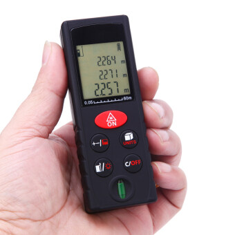 60m/197ft Mini Handheld Digital Laser Distance Meter Range FinderArea Volume Measurement Level Bubble