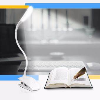 AFAITH Desk Lamp,LED Table lamp with Clip 360 Degree AjustableFlexible Clamp Lamps Touch Sensitive Bedside Table Lamp SmallReading Lights Used for Bed, Study and Office-White RM022