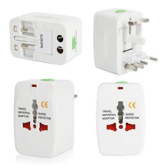 All in One Universal Travel Wall Charger AC Power Electrical PlugSocket Adapter AU UK US EU White
