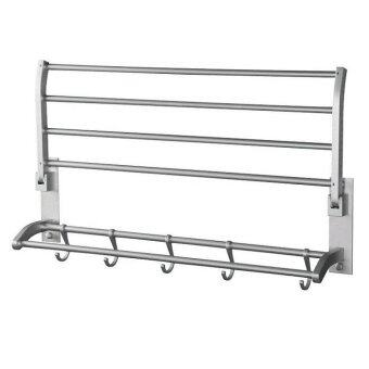 Aluminium towel hanging rack bathroom accessories lazada for Bathroom accessories lazada