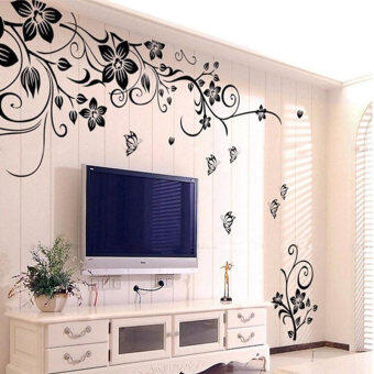 Amart Stickers Home Wall Sticker Flowers and Vine Mural Decal Art Stikers