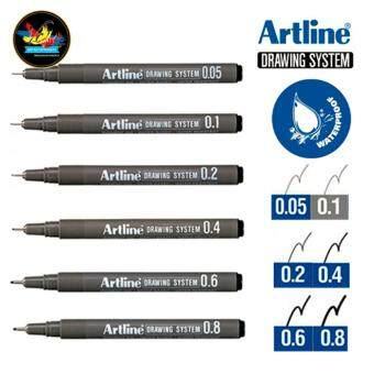 Artline Drawing System Pen Black (Set of 6) - EK-232