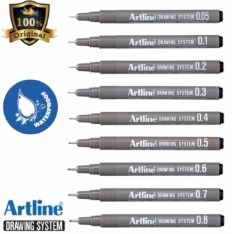 Artline Drawing System Pen Black (Set of 9) - EK-232