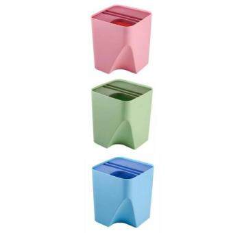 ASOTV Set of 3 Recycle Bin Stackable & Waste Separate-Large(25x25x30cm)