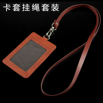 Badge Access Control IC work color Leather tag card sets