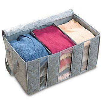 Bamboo Charcoal Clothes Storage Bag Organizer Case Box 65L