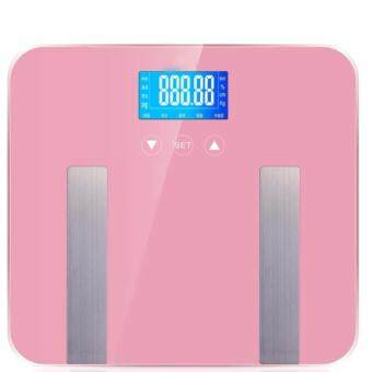 Barilla Digital Body Fat Composition BMI Weighing Weight Scale 7 in 1 Features (Pink)