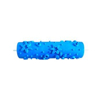 BolehDeals 7inch Embossed Star Pattern Painting Roller Brush Wall Decor DIY Tool Blue