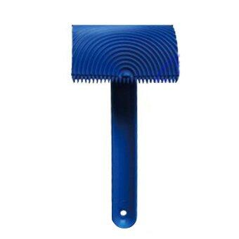 BolehDeals Wood Graining Pattern Rubber Painting Tool with HandleWall Decor Blue#03