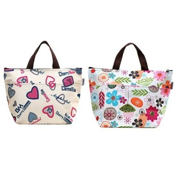 BUNDLE: SOKANO Korean Style Keep Warm/Keep Cool Lunch Pouch Set of 2
