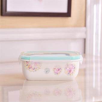 Ceramic sub-grid lunch boxes Microwave New with lid sealed boxesstorage box Korean lunch box separate boxes