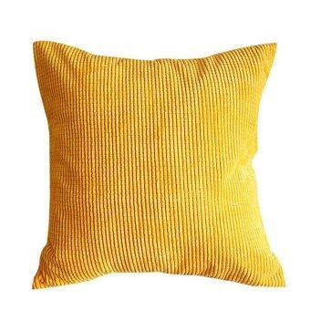 Soft Yellow Decorative Pillow : Corduroy Soft Decorative Pillow Case Cushion Cover Square 17? x 17 Yellow Lazada Malaysia