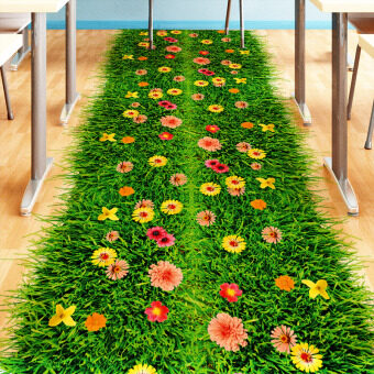 Creative Garden-style Waterproof Self-adhesive Removable 3D Floor Sticker