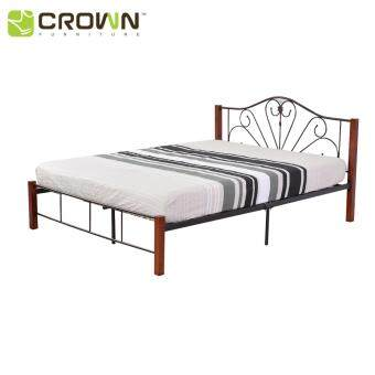 Crown SW118 Queen Size Wood & Metal Double Bed Frame