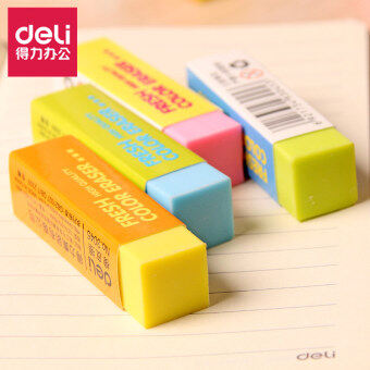 Deli color rubber children's students cute rubber eraser 3045 art painting easy to wipe clean eraser single