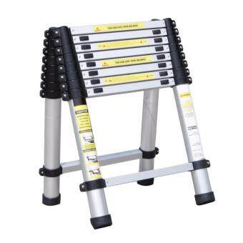 Double-Sided Telescopic Extendable Aluminium Pole Ladder 2.8m+2.8m = 5.6m