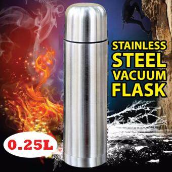 Double Wall Stainless Steel Flask Thermos Bottle Tumbler Hot & Cold- 0.25L