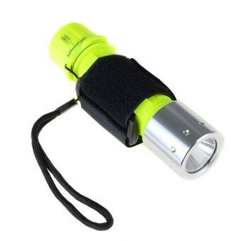 Easybuy Underwater Diving Flashlight XM-L T6 LED Torch WaterproofLight Wrist lights+Battery+ EU plug Charger