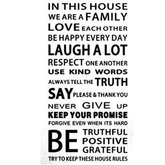 Family House Rules stickers wall Decal Removable Art Vinyl DecorHome Kids