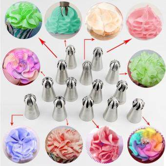 Fantastic Flower Hottest 1pc Bakeware Sphere Ball Shape CreamStainless Steel Icing Piping Nozzles Pastry Tips CupcakeButtercream Bake Tool??Pattern #1