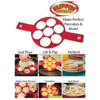Flippin Fantastic Nonstick Silicone Pancake Maker Egg Ring Maker