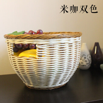 Fruit Basket rattan large capacity fruit plate creative living roomfruit plate vegetables dried fruit candy basket bread basketstorage basket