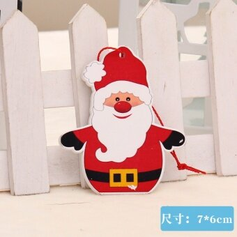 GANGHENG wooden Christmas snowman old Christmas tree decoration products