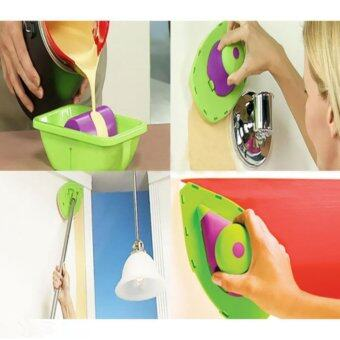 Good Service Paint Pad Painting Roller Tray Sponge Kit Brush HomeWall Decor Tool Green