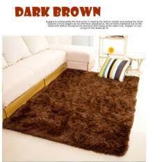 High Quality Premium Living Room Carpet 160x200 CM DARK BROWN