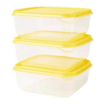 IKEA PRUTA Food Container Set of 3 (YELLOW)