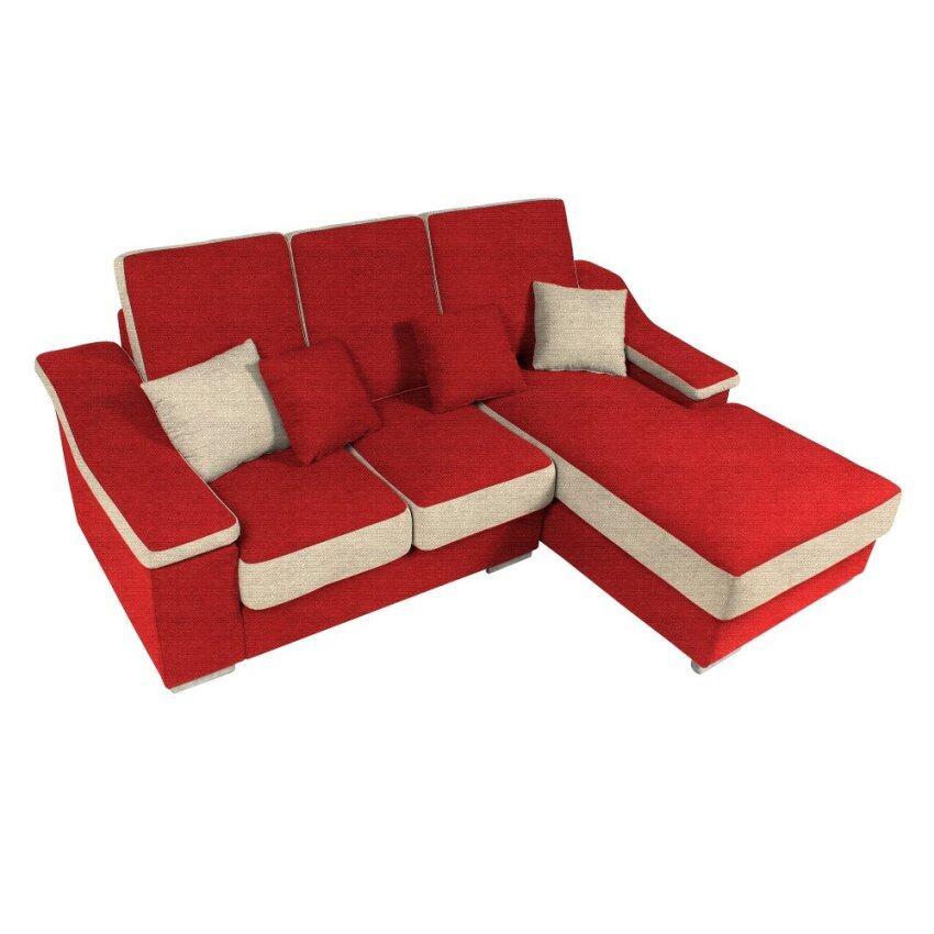 dorel l shape sofa pu fabric red db lazada malaysia