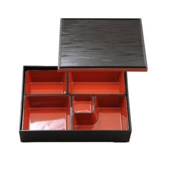 japanese bento lunch box 5 compartment with lid 27x21x6cm. Black Bedroom Furniture Sets. Home Design Ideas